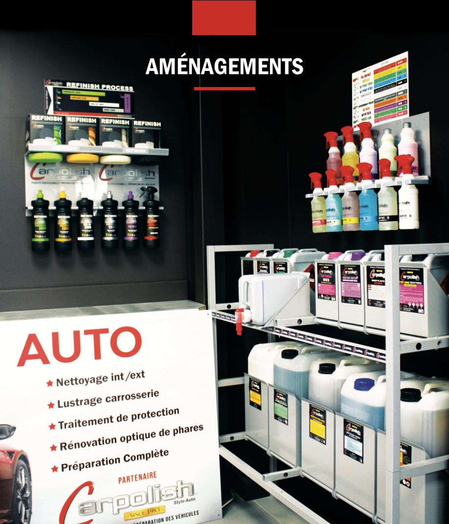 Produits professionnels pour la préparation des véhicules